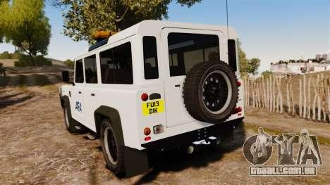 Land Rover Defender AFA [ELS] para GTA 4 traseira esquerda vista