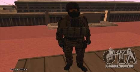 Global Defense Initiative Soldier para GTA San Andreas por diante tela