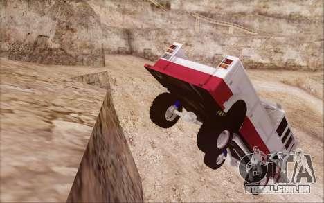 Offroad Firetruck para GTA San Andreas traseira esquerda vista