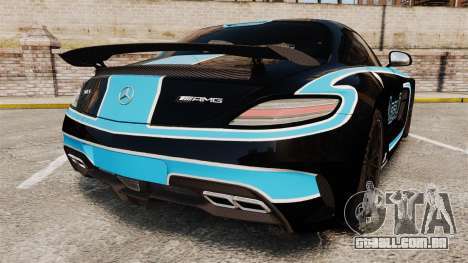 Mercedes-Benz SLS 2014 AMG Black Series Area 27 para GTA 4 traseira esquerda vista