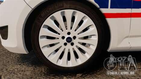 Ford Mondeo IV Wagon Police Nationale [ELS] para GTA 4 vista de volta