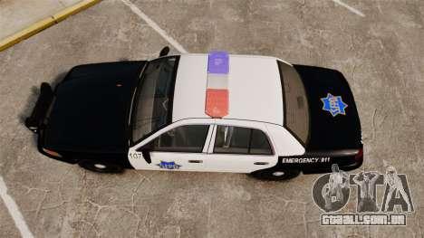 Ford Crown Victoria San Francisco Police [ELS] para GTA 4 vista direita
