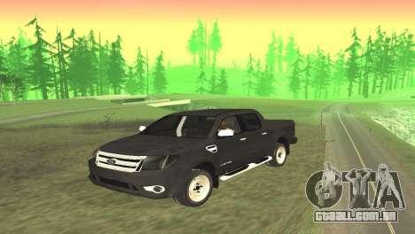 Ford Ranger Limited 2014 para GTA San Andreas traseira esquerda vista
