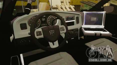 Dodge Charger 2011 Liberty Clinic Police [ELS] para GTA 4 vista de volta