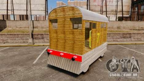 Trem-Toby- para GTA 4 traseira esquerda vista