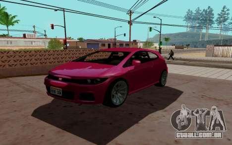 Dinka Blista GTA V para GTA San Andreas