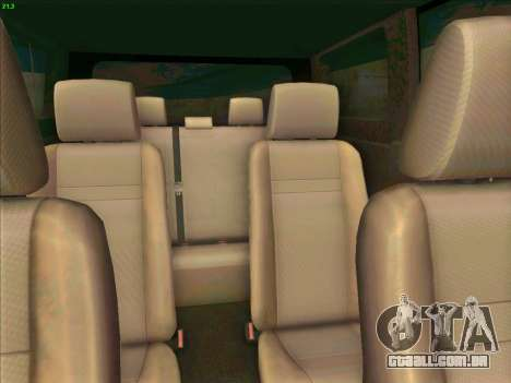 Toyota Alphard para GTA San Andreas vista interior