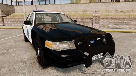 Ford Crown Victoria San Francisco Police [ELS] para GTA 4