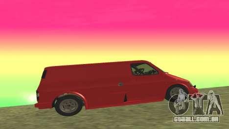 Ford Transit Supervan 3 Personalizado para GTA San Andreas vista traseira