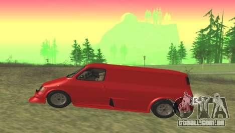 Ford Transit Supervan 3 Personalizado para GTA San Andreas esquerda vista