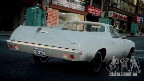 Chevrolet El Camino 1973 Old para GTA 4 vista direita