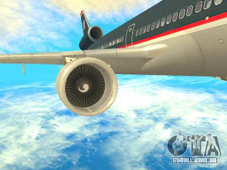 McDonnell Douglas MD-11 US Airways para GTA San Andreas vista direita