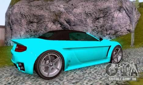 GTA V Rapid GT Cabrio para GTA San Andreas vista superior