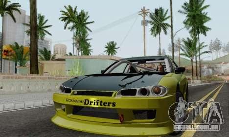 Nissan Silvia S15 Romanian Drifters para GTA San Andreas esquerda vista