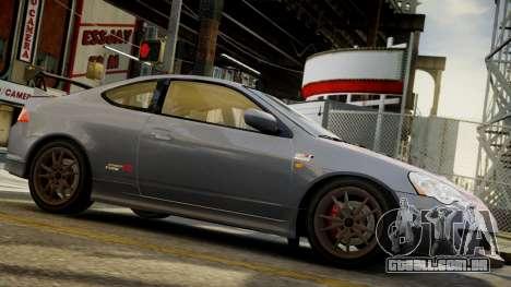 Honda Mugen Integra Type-R 2002 para GTA 4 traseira esquerda vista
