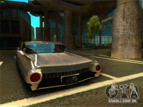 Cadillac Stella 1959 para GTA San Andreas traseira esquerda vista