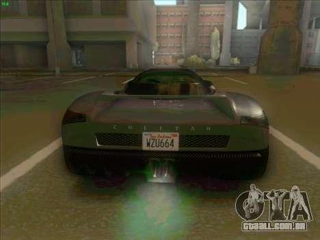 Cheetah Grotti GTA V para GTA San Andreas vista direita