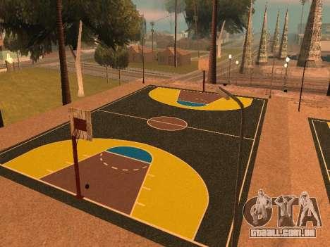 Nova quadra de basquete para GTA San Andreas terceira tela