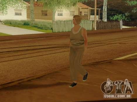Mulher idosa para GTA San Andreas quinto tela