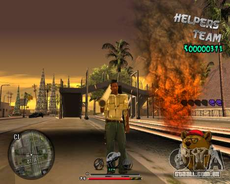 C-HUD Bear para GTA San Andreas por diante tela