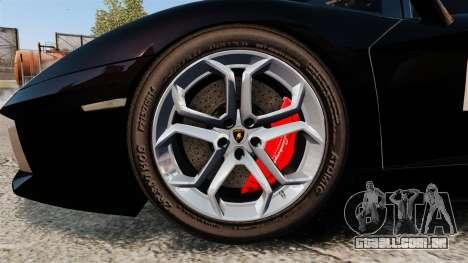 Lamborghini Aventador LP700-4 2012 [EPM] GoPro para GTA 4 vista de volta