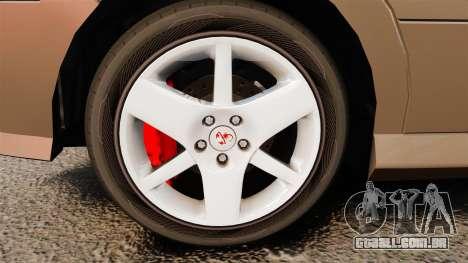Dinka Chavos new wheels para GTA 4 vista de volta