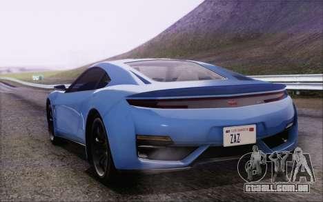 GTA V Dinka Jester HQLM para GTA San Andreas esquerda vista