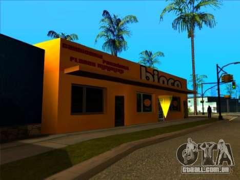 A nova textura loja Binco em LS para GTA San Andreas por diante tela