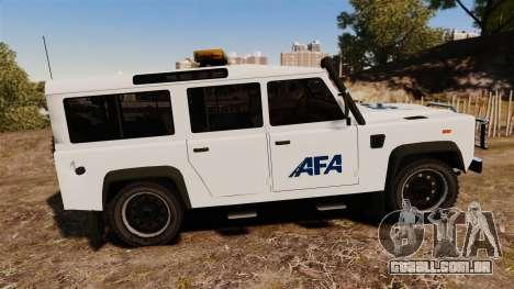 Land Rover Defender AFA [ELS] para GTA 4 esquerda vista