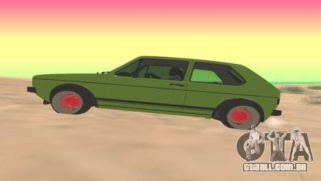 Volkswagen Golf Mk1 Low para GTA San Andreas esquerda vista
