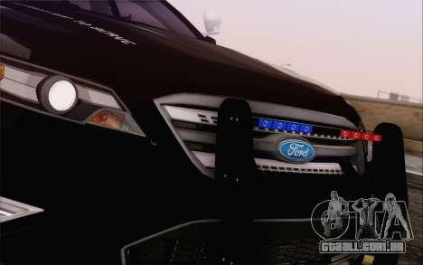 Ford Taurus Police para GTA San Andreas vista interior