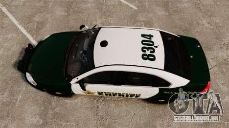 Chevrolet Impala 2010 Broward Sheriff [ELS] para GTA 4 vista direita