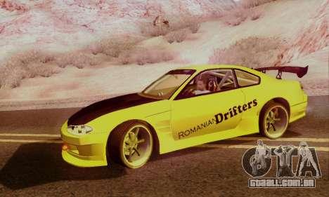 Nissan Silvia S15 Romanian Drifters para GTA San Andreas vista direita