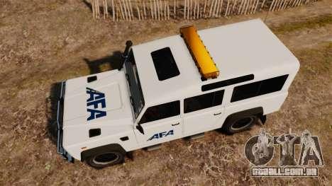 Land Rover Defender AFA [ELS] para GTA 4 vista direita