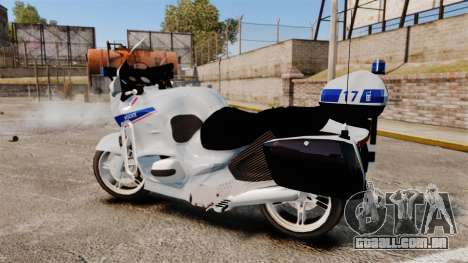 BMW R1150RT Police nationale [ELS] v2.0 para GTA 4 esquerda vista