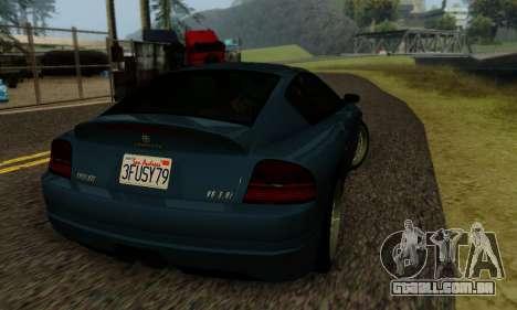 Fusilade GTA V para GTA San Andreas vista interior