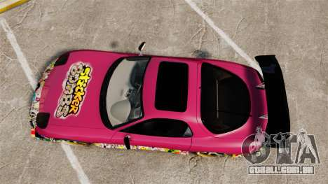 Mazda RX-7 D1 Sticker Bomb para GTA 4 vista direita
