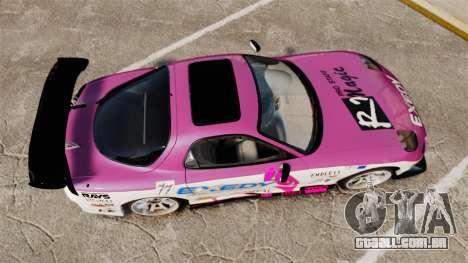 Mazda RX-7 D1 EXEDY para GTA 4 vista direita