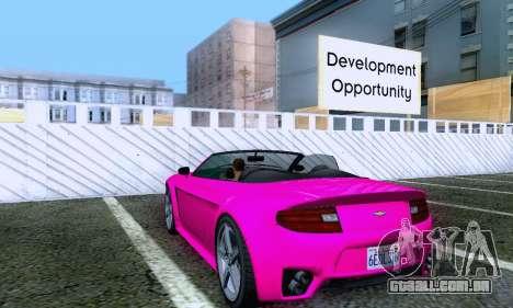 GTA V Rapid GT Cabrio para GTA San Andreas vista direita