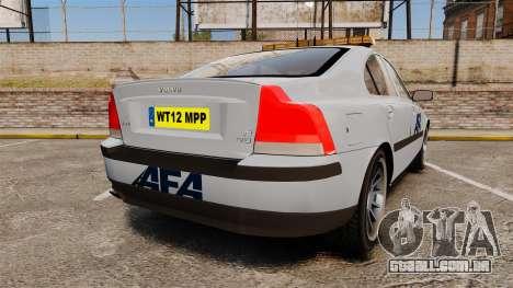 Volvo S60 AFA [ELS] para GTA 4 traseira esquerda vista
