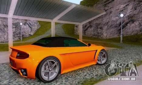 GTA V Rapid GT Cabrio para GTA San Andreas interior