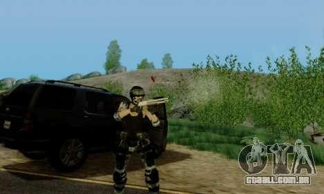 SWAT GIRL para GTA San Andreas quinto tela