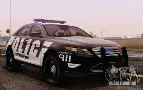 Ford Taurus Police para GTA San Andreas vista direita