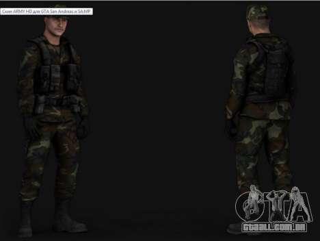 Army HD para GTA San Andreas por diante tela