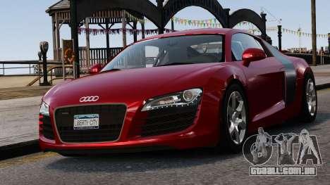 Audi R8 v1.1 para GTA 4 vista inferior