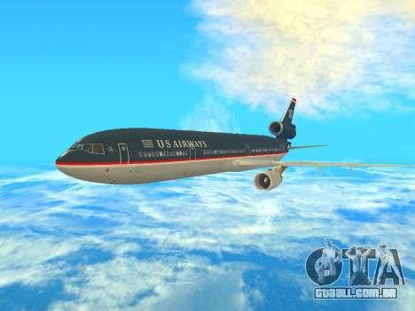 McDonnell Douglas MD-11 US Airways para GTA San Andreas esquerda vista