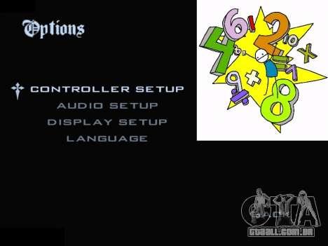 New Menu 2001 para GTA San Andreas segunda tela