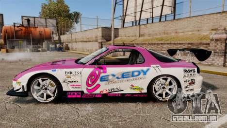 Mazda RX-7 D1 EXEDY para GTA 4 esquerda vista