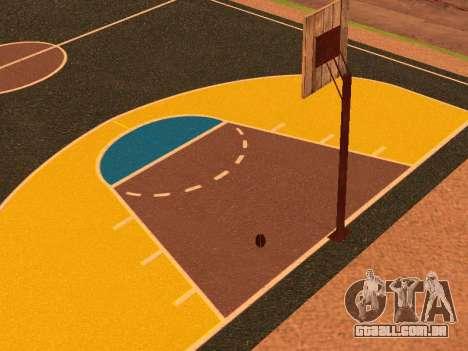 Nova quadra de basquete para GTA San Andreas sexta tela