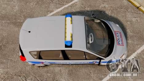 Renault Scenic Police Municipale [ELS] para GTA 4 vista direita